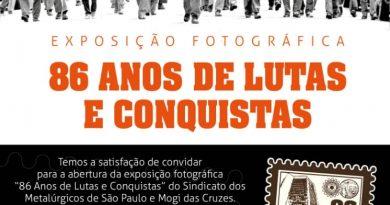 Exposição fotográfica retrata 86 anos dos metalúrgicos de São Paulo